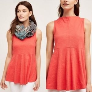 Anthropologie Deletta Coral Sway Tank